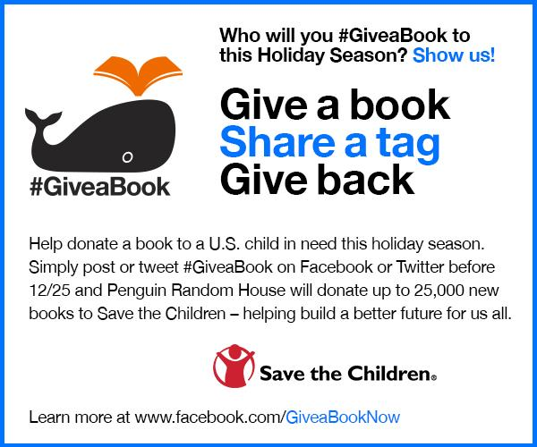 Tweet #GiveaBook til 12/25 & @penguinrandom will donate a book to @savethechildren, up to 25K. RT to spread the word! http://t.co/yRLBCZy4DI