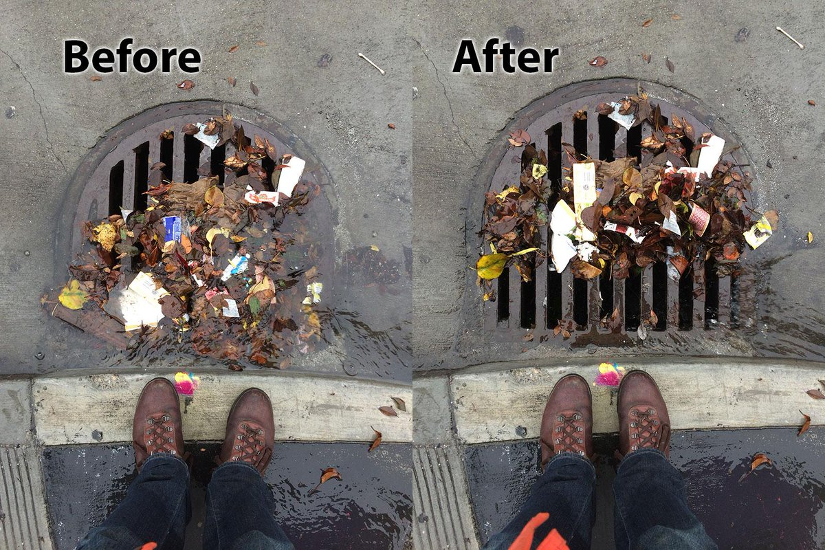 Remember to clear out storm drains if they're clogged up! @SFWater http://t.co/gyIah28OOL