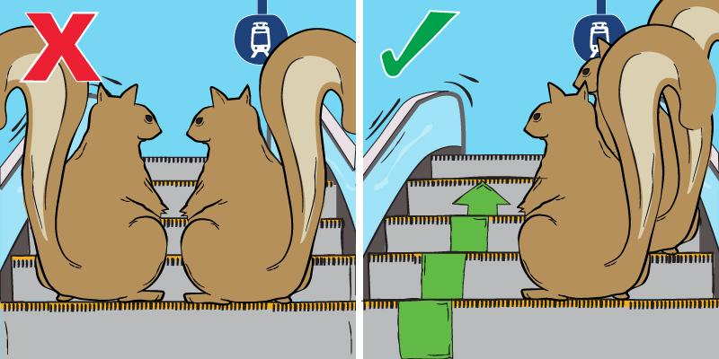 Rider tip #2: Don't be squirrely. Stand to the right on escalators. http://t.co/PEzmriyufa