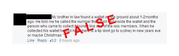 #mythbuster #hoaxalert This message is circulating on social media. NSW Police has received no such reports. http://t.co/Icza910TAN