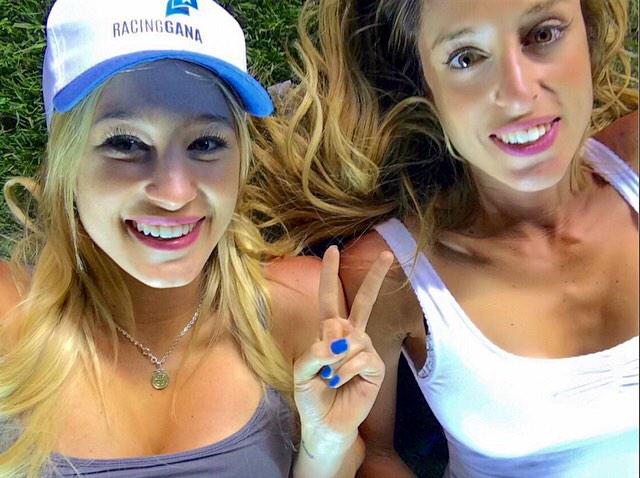 Racing Club win Argentine title. Presidents daughters celebrate with eye catching selfie