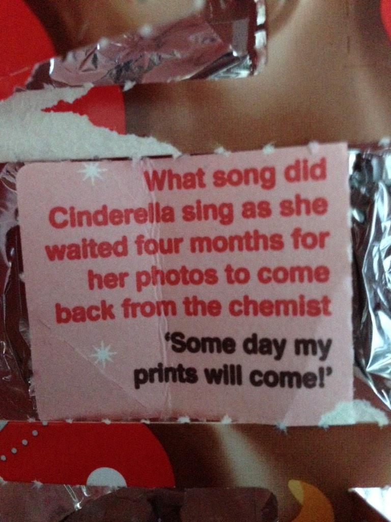 This joke was in my advent calendar but I'm pretty sure no child today would ever understand it... http://t.co/md0mRYwA83