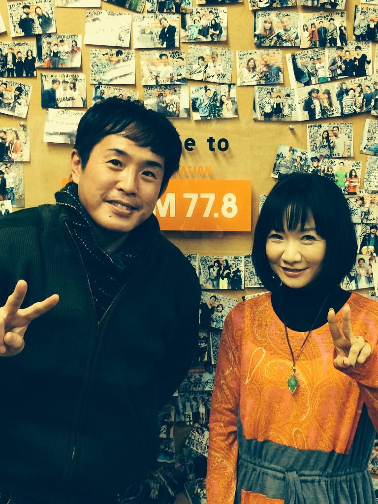 名古屋のZIP-FMに行ったら、こんな方に遭遇!!! 佐藤竹善さんでーす(^O^)/ http://t.co/c9dO0IP1FI