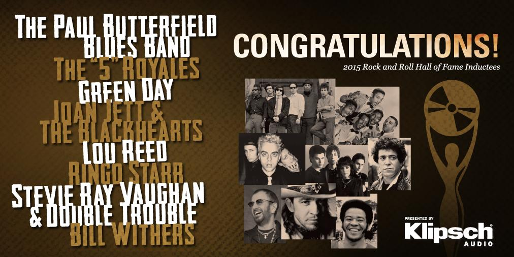 Make some noise for the new #RockHall2015 Inductees! More: http://t.co/HbdM7xasaI! #RockHall #Cleveland http://t.co/xkv6LMQA1I