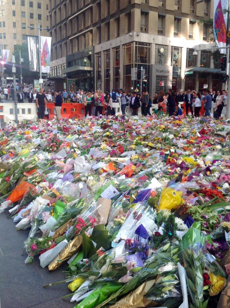 It's incredibly moving that we have come together to grieve, and move on together. #sydneysiege http://t.co/v3a6rVfPmB