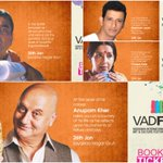 RT @WeAreVadodara: #Vadodara welcomes renowned names of #Theater to the city for #Vadfest! @SirPareshRawal @AnupamPkher @TheSharmanJoshi ht…