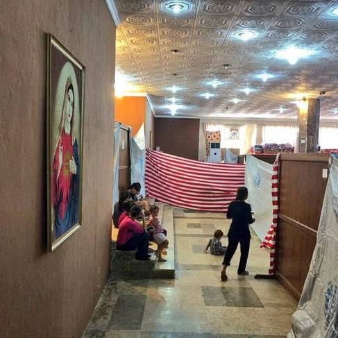 Moské i #Kurdistan har gjorts om till kyrka för kristna flyktingar. ❤ http://t.co/VxIzrikuOu