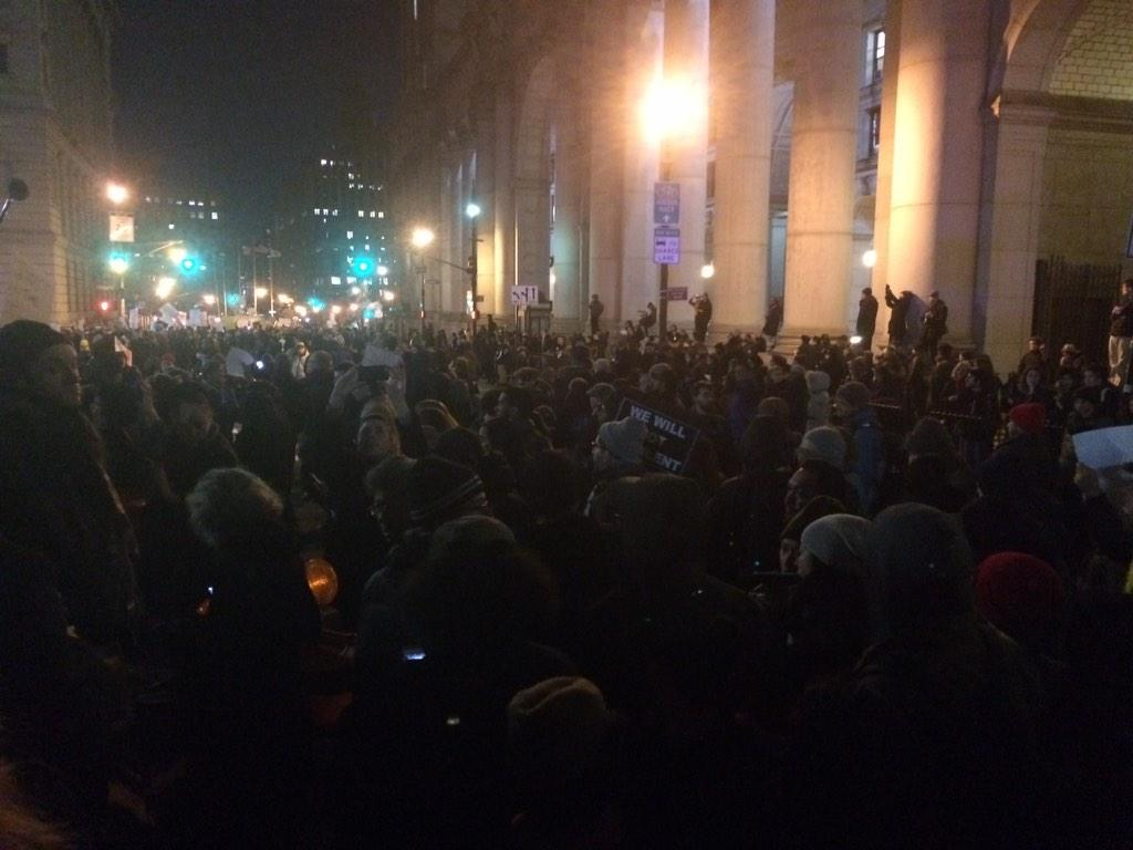 Streets officially occupied. #EricGarner #ICantBreathe http://t.co/Fg8R39Itin