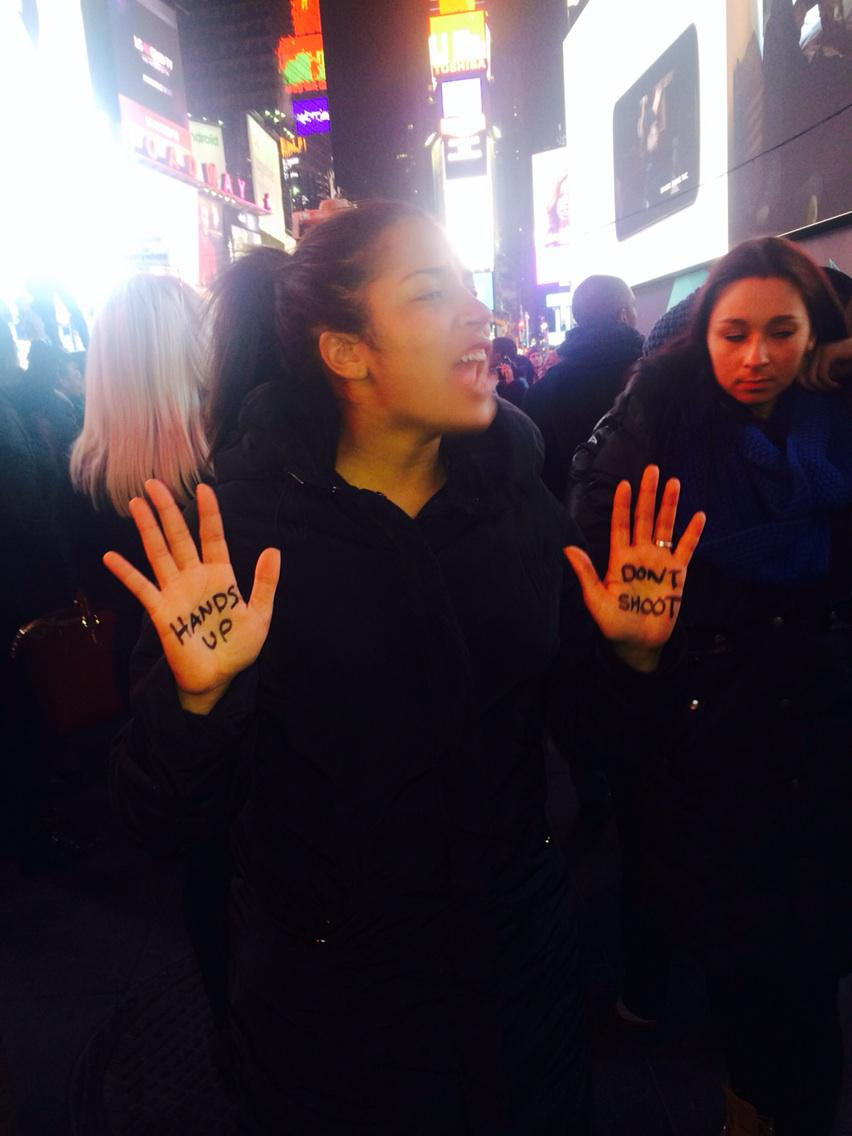Hands up. Don't shoot #nycprotest http://t.co/xRA8QobD9Z