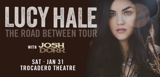 ON SALE NOW! @LucyHale of @ABCFpll is live in concert @Thetrocadero Sat 1/31. Tix & info here: http://t.co/f6gMLo7suT http://t.co/5oEaPCMcTB