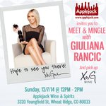 Hey, Colorado! Come hang with me and pick up a signed bottle of @XoGWine this Sunday, 12/7 at @applejack_Colo! http://t.co/Nf8duemcta