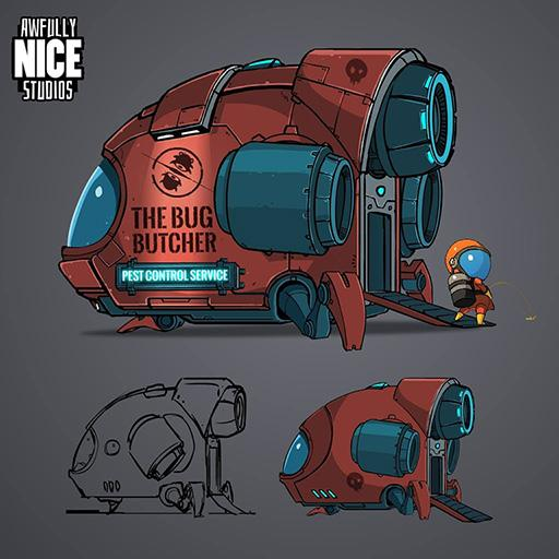 It's cute. RT @_AwfullyNice_: Space Ship design process #indiedev #indiegame #screenshotsaturday #gamedev http://t.co/AUxScMLkX4