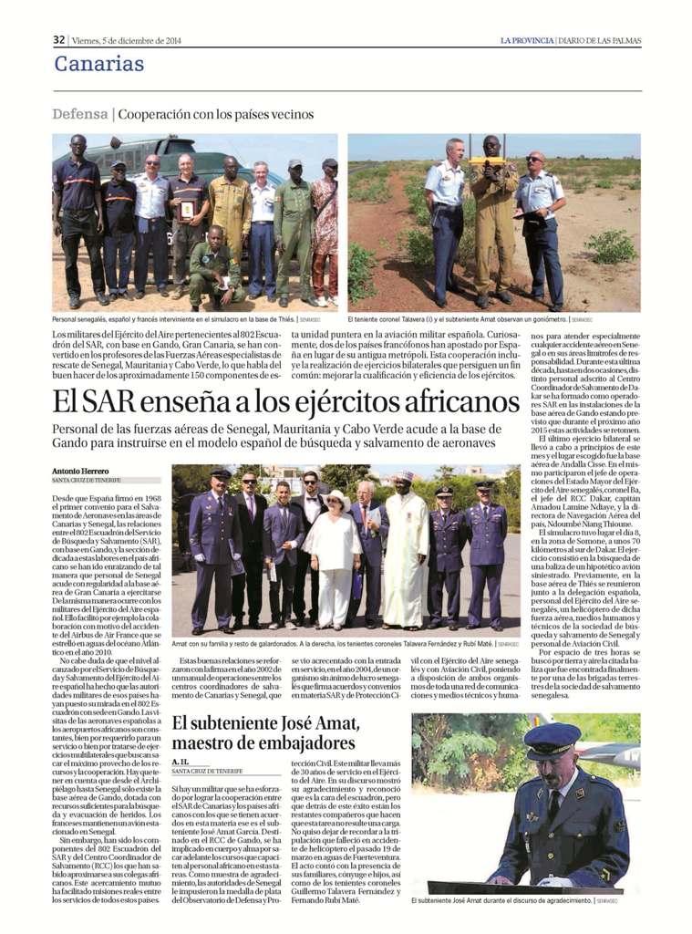 El SAR @EjercitoAire enseña a personal fuerzas aéreas de Senegal, Mauritania y Cabo Verde, vía Diario de Las Palmas http://t.co/cUYv1ne8jw
