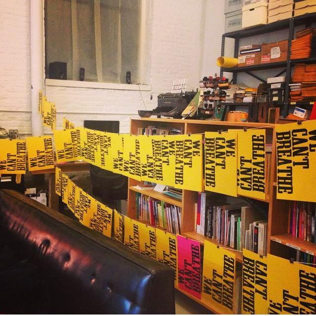 Spontaneous Printing last night #WeCantBreathe http://t.co/2PStWMLxL2