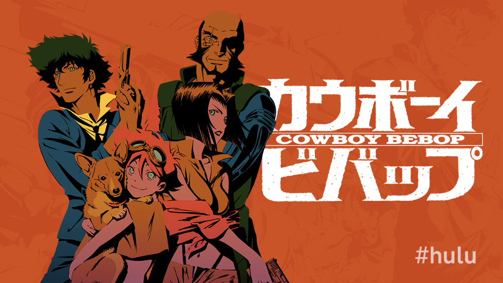 "The Cowboys are here. ""Cowboy Bebop"" is now streaming on #hulu. Watch the first 4 sessions: http://t.co/IFLNMpXS7Y. http://t.co/OSQ0HbQoI4"