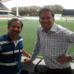 RT @sunandanlele: With Harsha Bhogle @ new look Adelaide Oval http://t.co/j8JwquY3Du