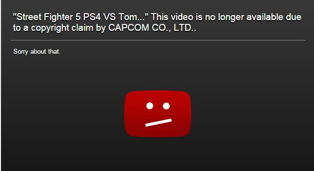 BREAKING! @Capcom_Unity Gives Copyright Strikes On @YouTube Wrongfully. No Footage/Music Just Talking Causes A Strike http://t.co/uC3xwrgEWP