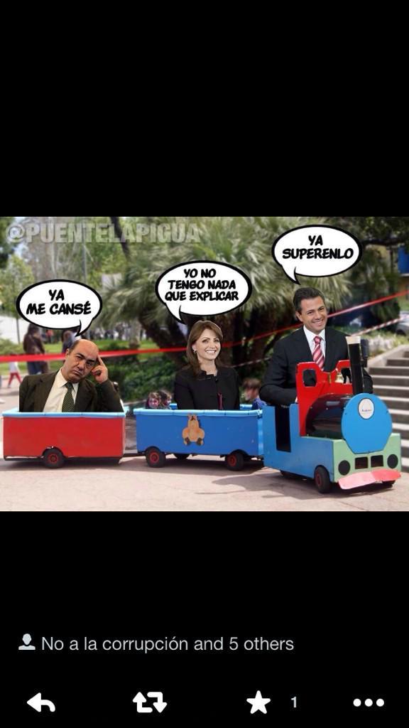 """""""@DeniseDresserG: el tren rápido de @EPN, financiado con #TeletonMexico y diseñado por Grupo Higa. http://t.co/aTy4LIAGym""""  EL TREN DEL MAME"""