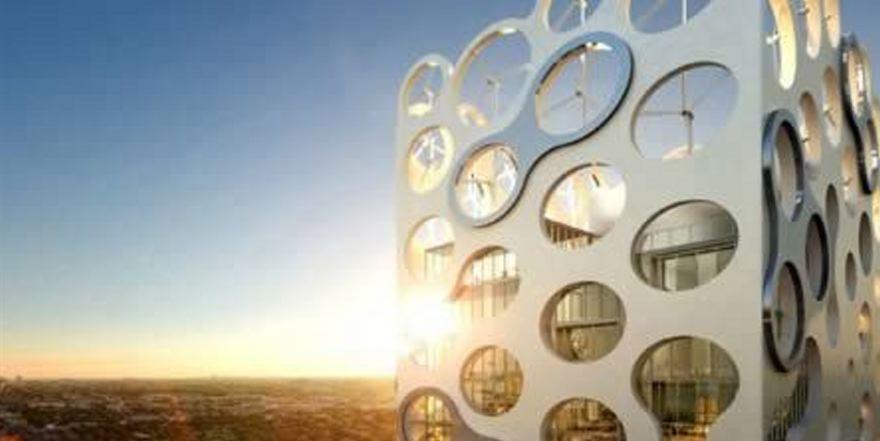 Hoe geven #architecten vorm aan #duurzaamheid? Met bv #windmolens in daken @SPARK_Campus @helenevanrijn @Straatbeeld http://t.co/U9o3ihJkjw