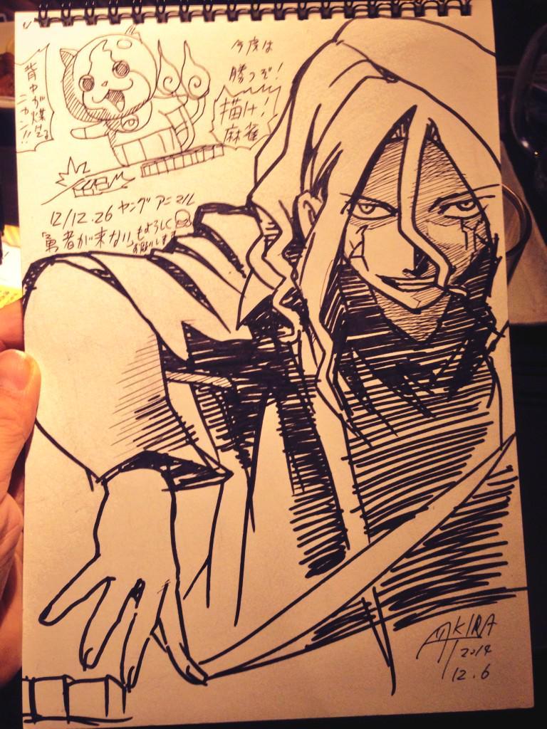 描け麻雀で負けてハデス先生と ジバニャン描きましたー(=゚ω゚)ノ✒︎ #描け麻雀 http://t.co/vX8cmVKB5W