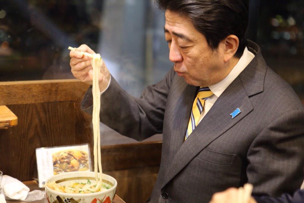 あべちゃん「夕食は讃岐うどん、世界中のひとに食べて欲しいクールジャパンのひとつ」