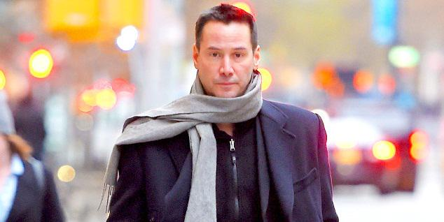 This weekend is brought to you by Keanu Reeves in a scarf