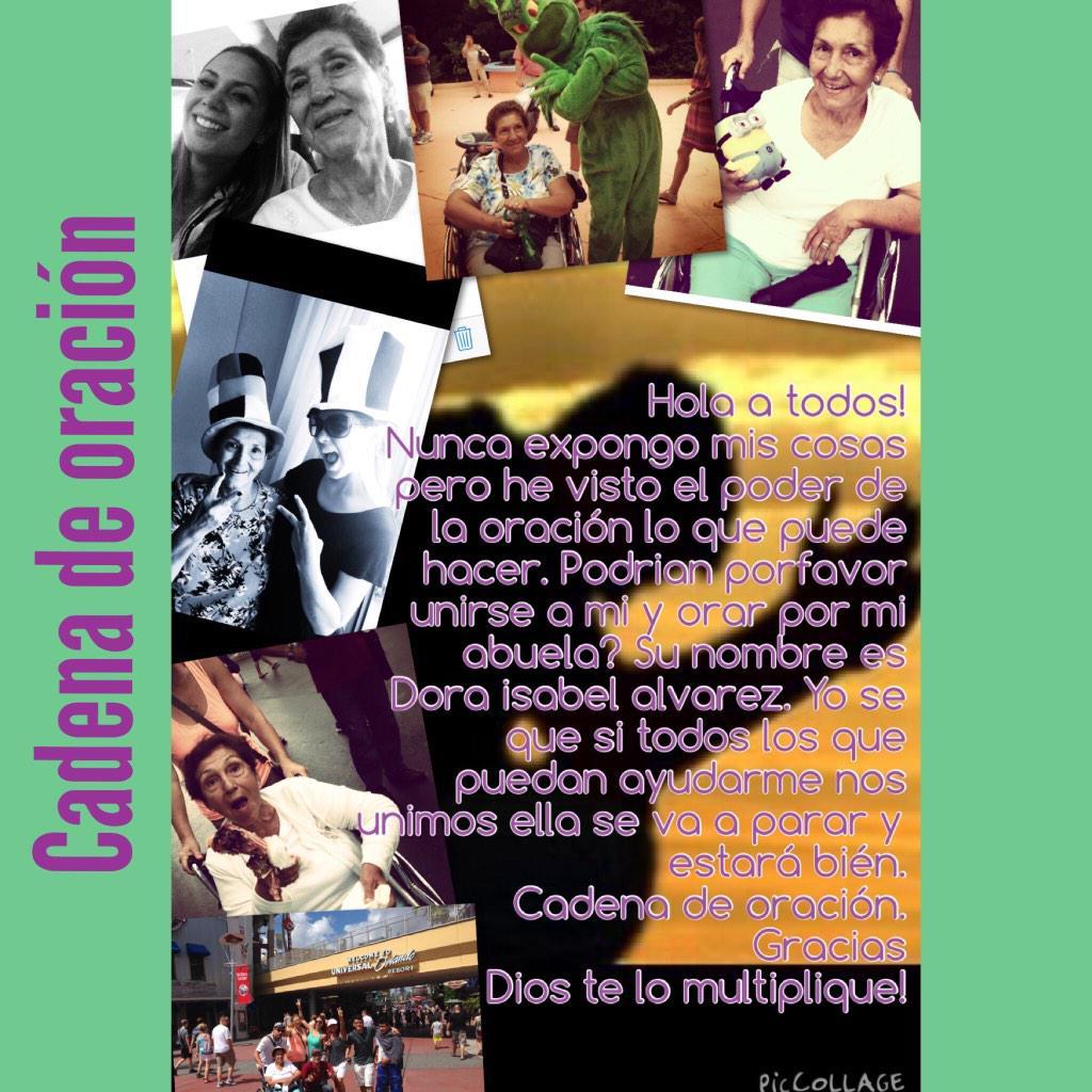 #CadenadeOraciónDoraIsabelAlvarez. RT http://t.co/H9WNyFThHj