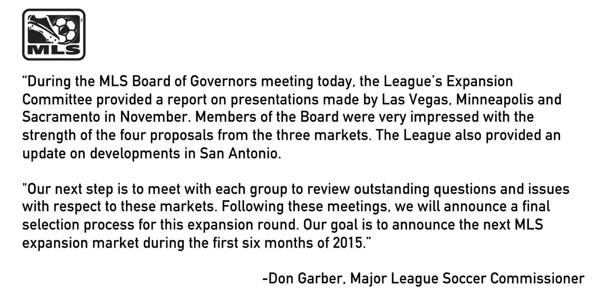 A statement on expansion. http://t.co/SZxIA2i6Pd