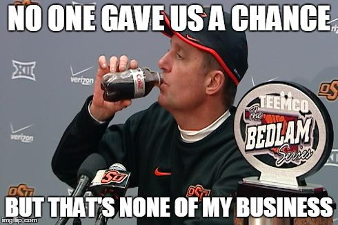 20 point underdogs. #okstate http://t.co/TE0oeFIEsN