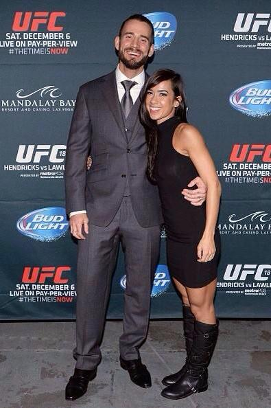 CM Punk & AJ Lee are literally relationship goals.  @WWEAJLee & @CMPunk look so happy! http://t.co/DdeZ5kZxDP
