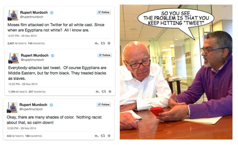 Without a doubt the funniest thing you'll see all day. #RupertMurdoch http://t.co/szqGcowMcn