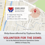 RT @DepEd_PH: FYI: @dswdserves needs 450 volunteers to help repack goods at the NROC in Pasay City. http://t.co/Vj2T6WEPqv http://t.co/ZFgp…