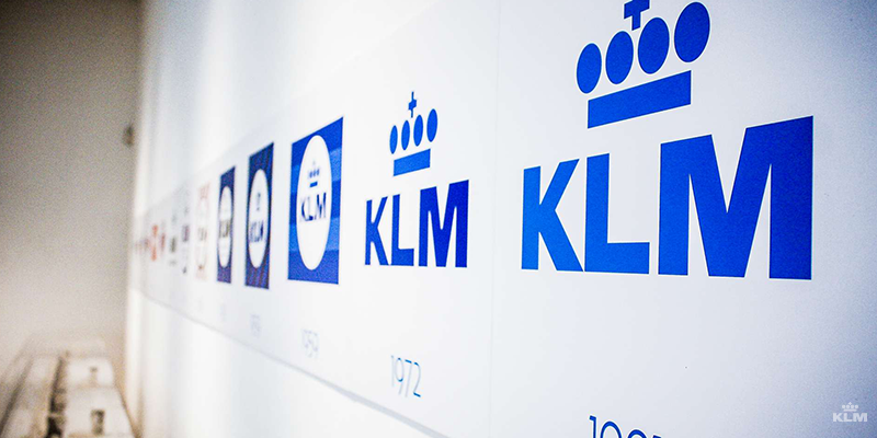 How the KLM logo evolved over the years.