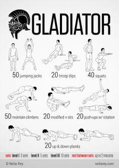 """Domingos de """"No gym? No problem!"""" Hoy os traemos esta rutina inspirada en Gladiator, ¡vamos! http://t.co/4Q6BUDhiqs"""