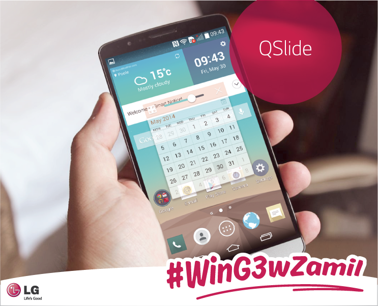 Are you a multitasker? The #Qslide function allows you to work on 2 apps at the same time #WinG3wZamil http://t.co/rWcLCYpco6