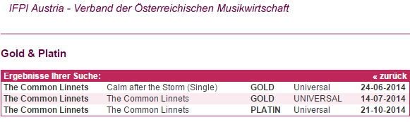 @CommonLinnets I just saw the album actually already went Platinum in Austria THE DAY AFTER YOUR CONCERT IN VIENNA!!! http://t.co/tjcIVgLTNh