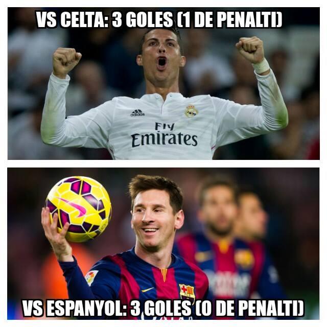 "Historia de un ""hat-trick""... #CR7 #Cristiano #Messi #RealMadrid #Barcelona #LaLiga #LigaEspañola #Memes http://t.co/uWL9UHCvQs"