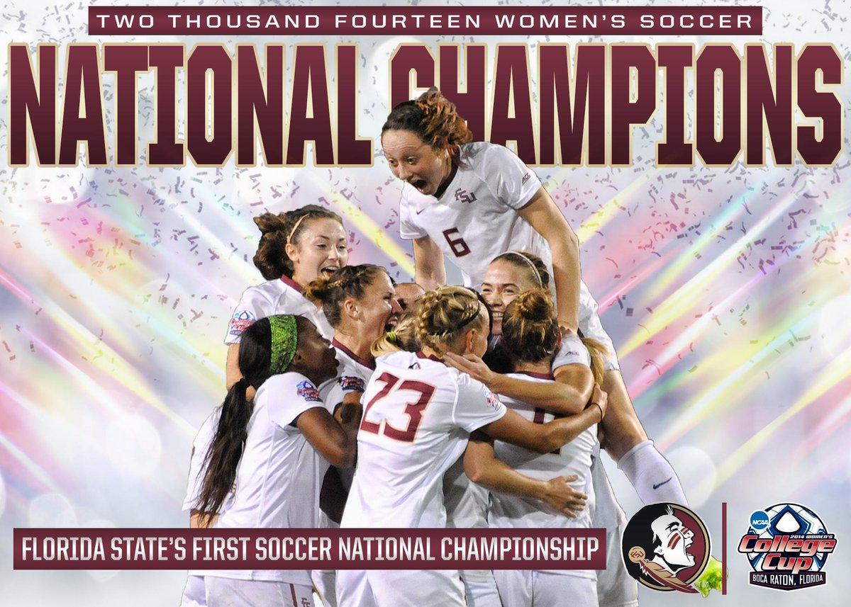 2014 NATIONAL CHAMPIONS! FSU defeats Virginia, 1-0! http://t.co/3BxMLcFYgW