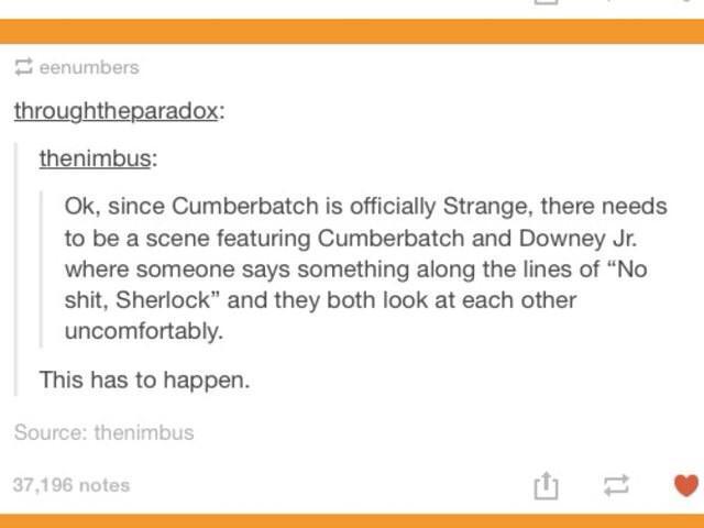 Sherlock Strange! http://t.co/BhmN4lJ0me