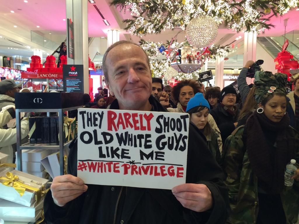 #ShutItDown demonstrator in NYC @Macys #EricGarner #ICantBreathe http://t.co/RVjSol0WiT