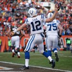 Colts come back to beat Browns, 25-24.  - Luck: 24-53, 294 Yds, 2 TD, 2 Int - T.Y. Hilton: 10 Rec, 150 Yds, 2 TD