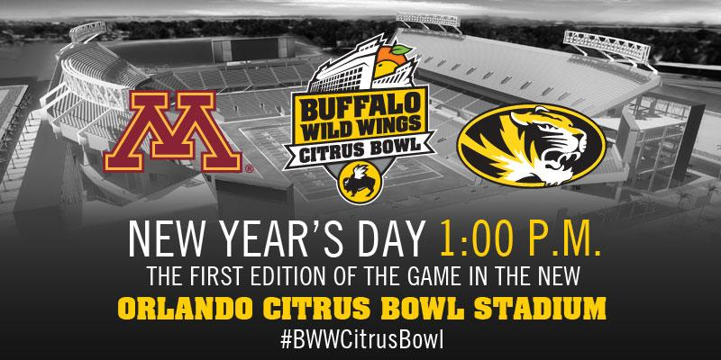 Aaaand it's official: @GopherFootball meets @MizzouFootball on New Year's Day in Orlando! #BWWCitrusBowl http://t.co/SX70cLGHfN