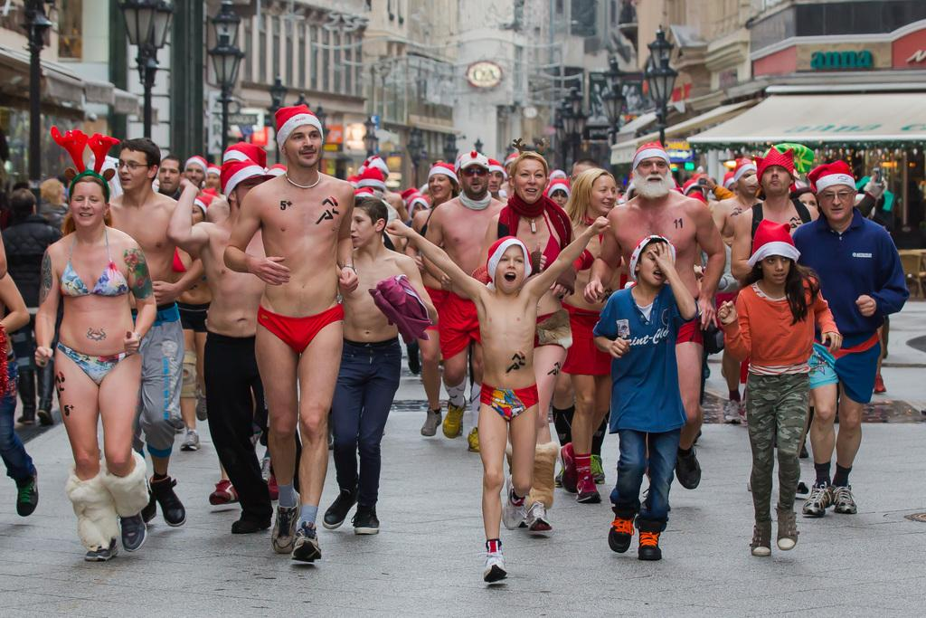 Naked run for charity