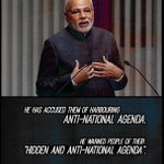 PM Modi accused anti-Nationalist NGOs, of harbouring anti-national agenda #AntiHinduNGOsExposed http://t.co/hOpRTeooir @sameerranjan3