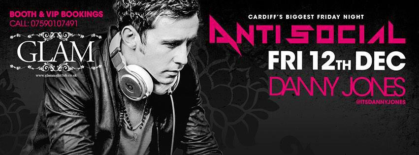THIS FRIDAY // @AntiSocialGlam  @itsDannyJones takes to the decks for an end of term party like no other! http://t.co/FgrAZNknsz