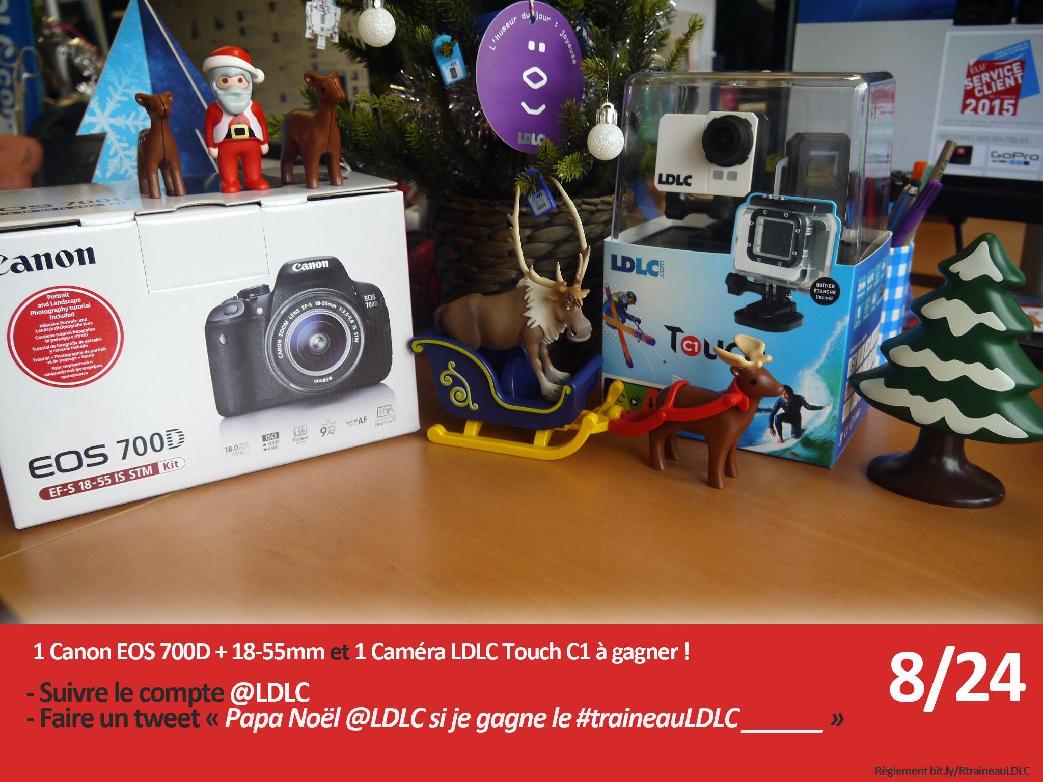 Un Canon 700D à gagner aujourd'hui ! follow @LDLC + tweet 'Papa Noël @LDLC si je gagne le #traineauLDLC je ____' http://t.co/65x2RUohQZ