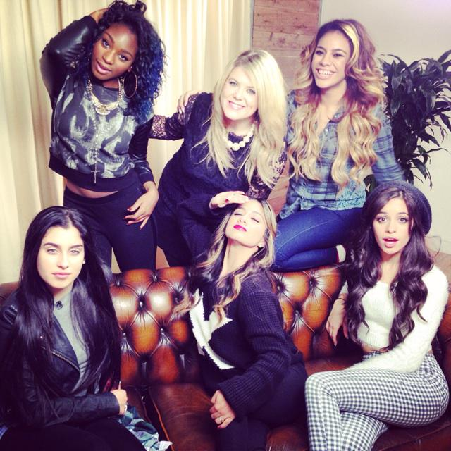 """Ahhh! I ❤️ the @FifthHarmony ladies! They said I was the """"spunkiest"""" girl they've ever ...  http://t.co/4UCJjvAr4L http://t.co/rruVKnVQs4"""