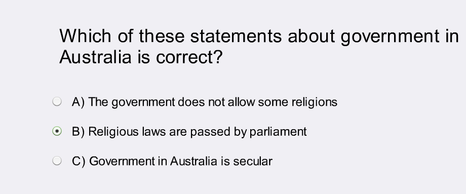 I have some questions about school chaplains for the compilers about the Australian citizenship test. http://t.co/WyCBnSsYDY