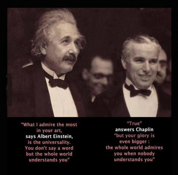 When Charlie Chaplin met Albert Einstein: http://t.co/8uknKFhS5W