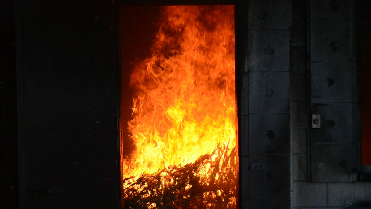 Make sure a fire like this doesn't happen in your house! Click http://t.co/twQcHSEtzC for Christmas tree safety tips. http://t.co/VUP0aRn4Ny